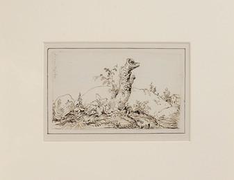Jonas Carl Linnerhielm (1758-1829) - Trädstubbe, detalj