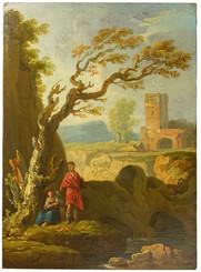 Johan Edvard Mandelberg (1730-1786) - Pastoral scen, pannå