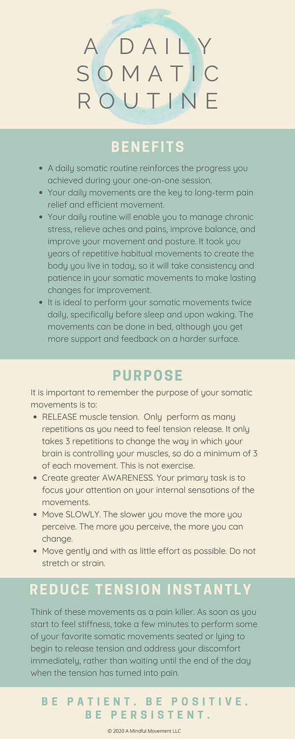 Benefits of daily somatic practice.