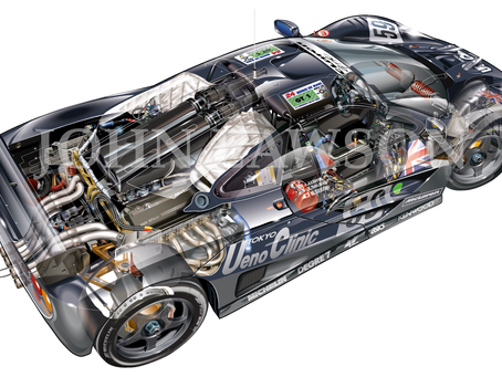 Final nuts and bolts on the McLaren F1 GTR 01R cutaway illustration
