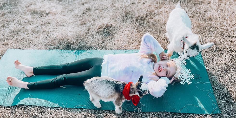 SPRING BREAK Goat Snuggles + Goat Yoga