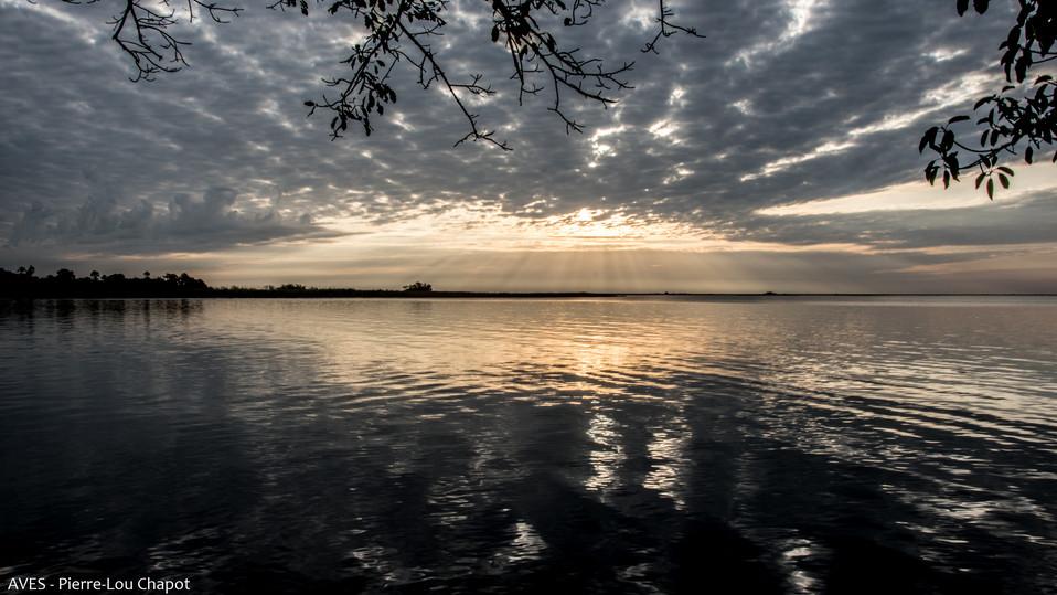 Couché de soleil sur la Laguna Ibera
