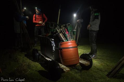 L'installation des filets