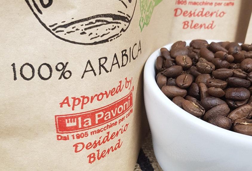 Desiderio Espresso Blend Approved By La Pavoni