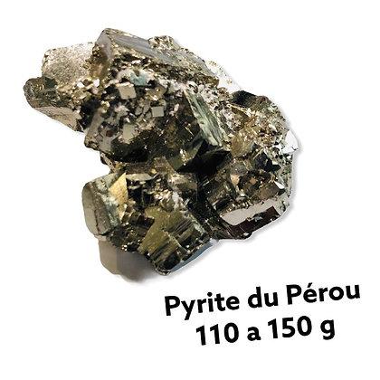 Pyrite Qualité Extra du Pérou 110 à 150 g