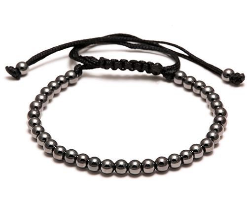 Bracelet Macramé Perles Black - TM0057