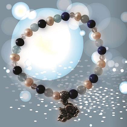 Bracelet Lumin'Ange - perles 6 mm