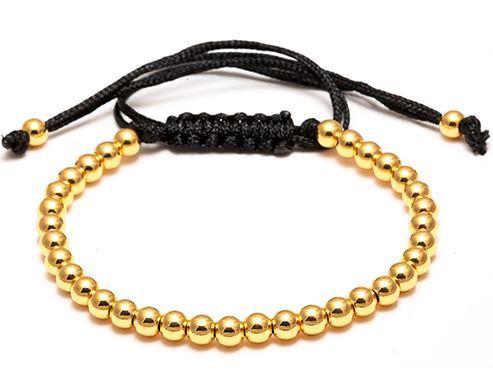 Bracelet Macramé Perles Gold - TM0056