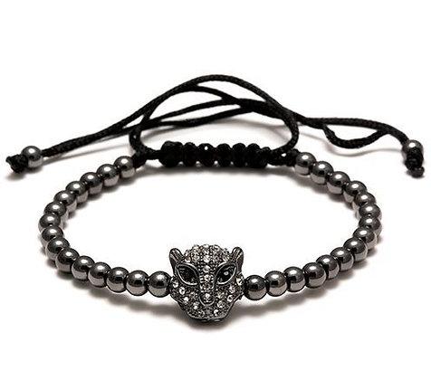 Bracelet Macramé Sacré Panthère - TM0055