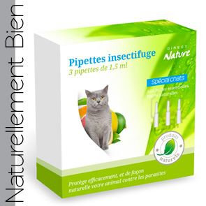 Pipettes Insectifuges Chats