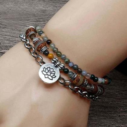 "Bracelet Lotus ""Persévérance"""