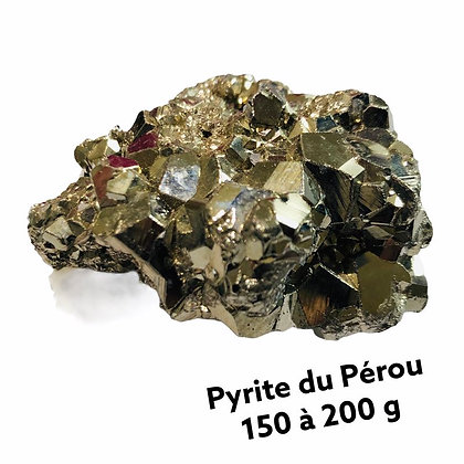 Pyrite Qualité Extra du Pérou 150 à 200 g