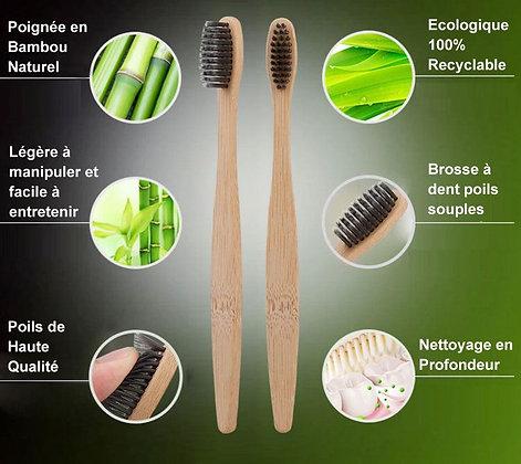 Brosse à dents en Bambou Naturel - NP0123