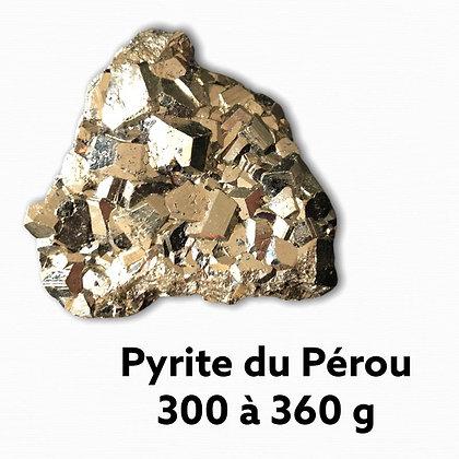 Pyrite Qualité Extra du Pérou 300 à 350 g