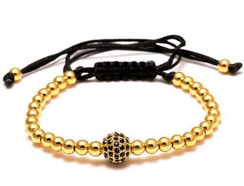Bracelet Macramé Strass Gold- TM0061