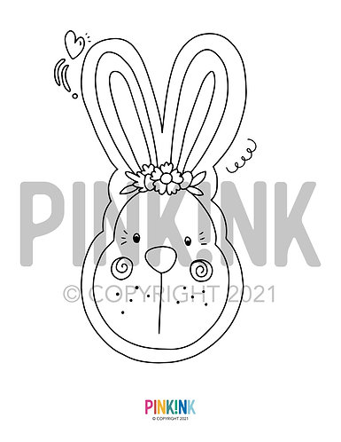 Easter Illustrations to colour in, downloadable files.