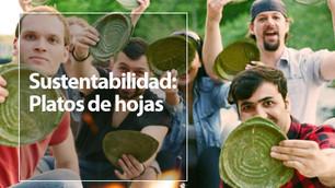 Leaf-Republic: platos hechos de hojas de plantas
