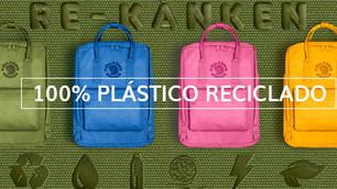 Mochilas 100% de plástico reciclado