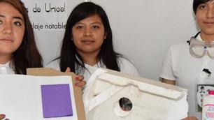 Alumnas del IPN crean máquina que recicla y transforma el unicel en pegamento