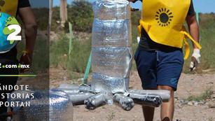 'Ducha de sol', el calentador de agua hecho con materiales reciclables que funciona con energía