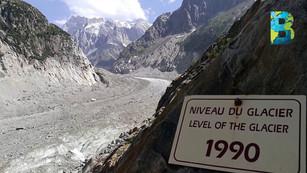 El glaciar más grande de Francia, Mer de Glace, cerca de desaparecer
