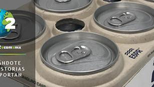 Mexicanos desarrollan empaque biodegradable de anillos para packs de bebidas