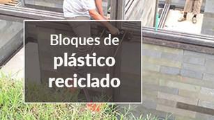 Casas con 'ladrillos' de plástico reciclado
