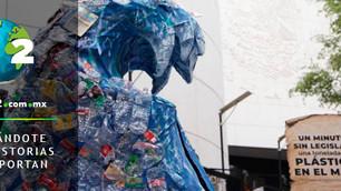 Ola de plástico en el Senado: un minuto sin legislar, una tonelada de plástico en el mar