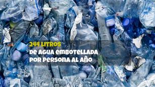 México 1er lugar en consumo de agua embotellada. Más de 21 millones de botellas diarias