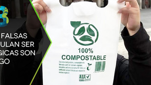 Bolsas falsas que simulan ser ecológicas representan un riesgo ambiental