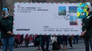 35 mil mexicanos piden por una recuperación económica que tenga como eje el medio ambiente