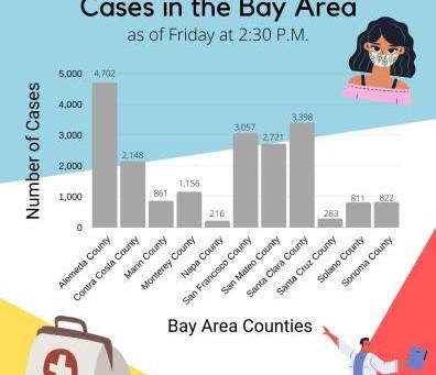 COVID-19 Cases in the Bay Area