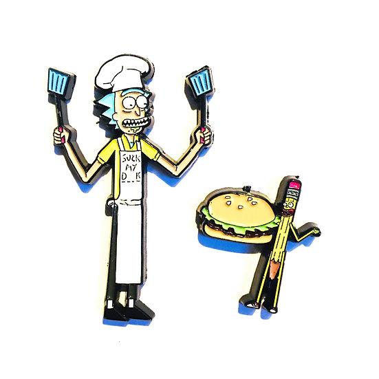 Chef Rick & Pensylvester Hat Pin Set