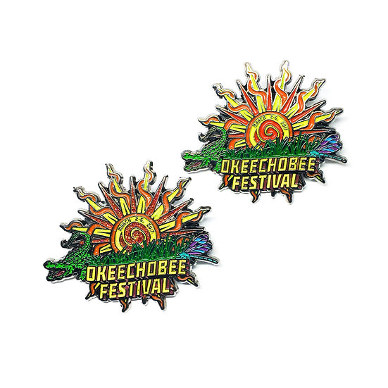 Okeechobee Festival Sun Hat Pin