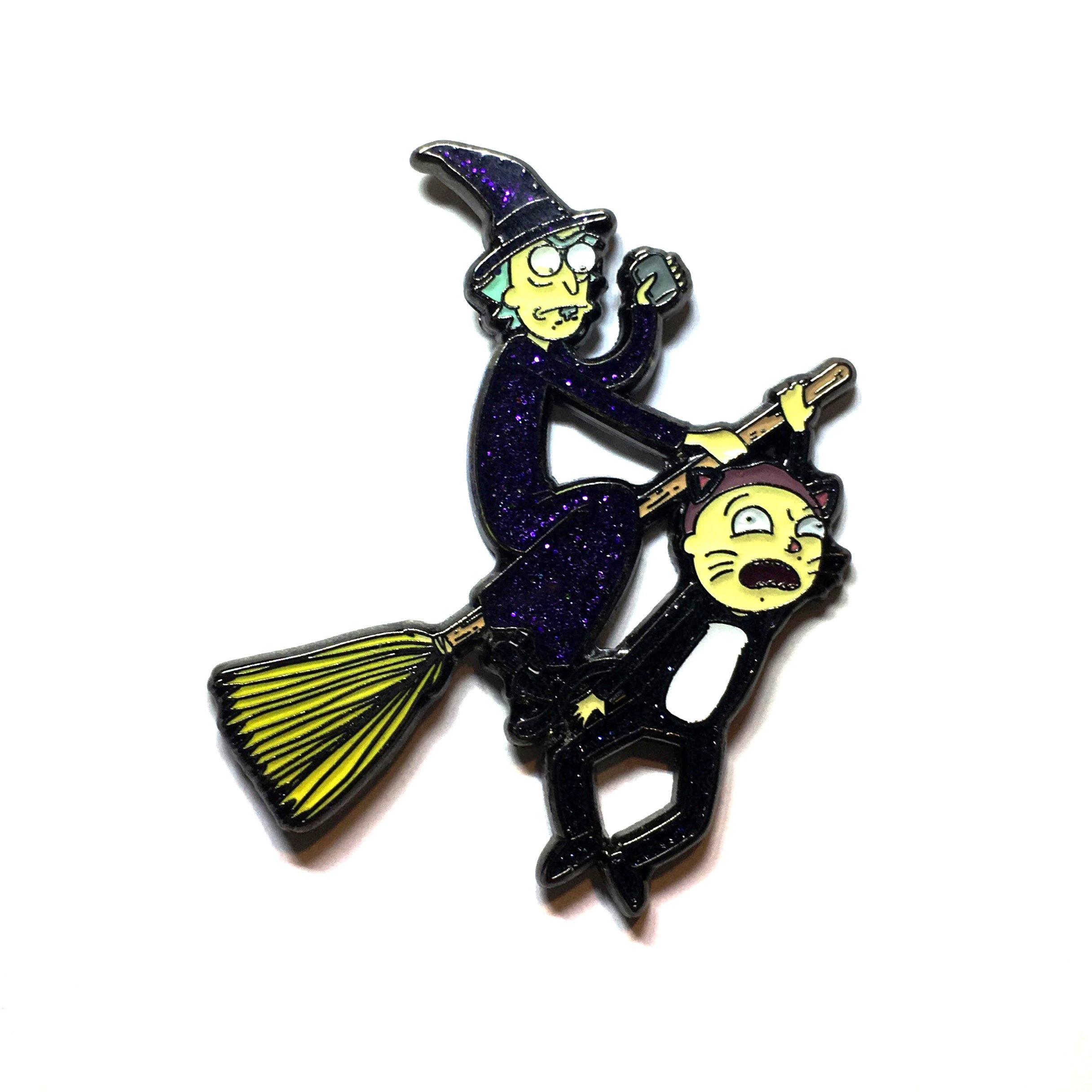 Rick & Morty Witch Halloween Mash Up Hat Pin | Pindustrial Pins