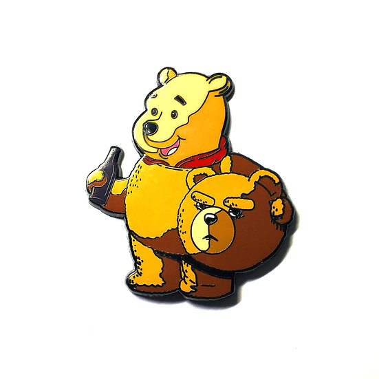 Winnie The Pooh Ted Movie Mashup Hat Pin