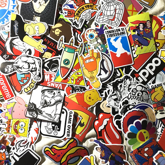 25 Random Skateboard Stickers