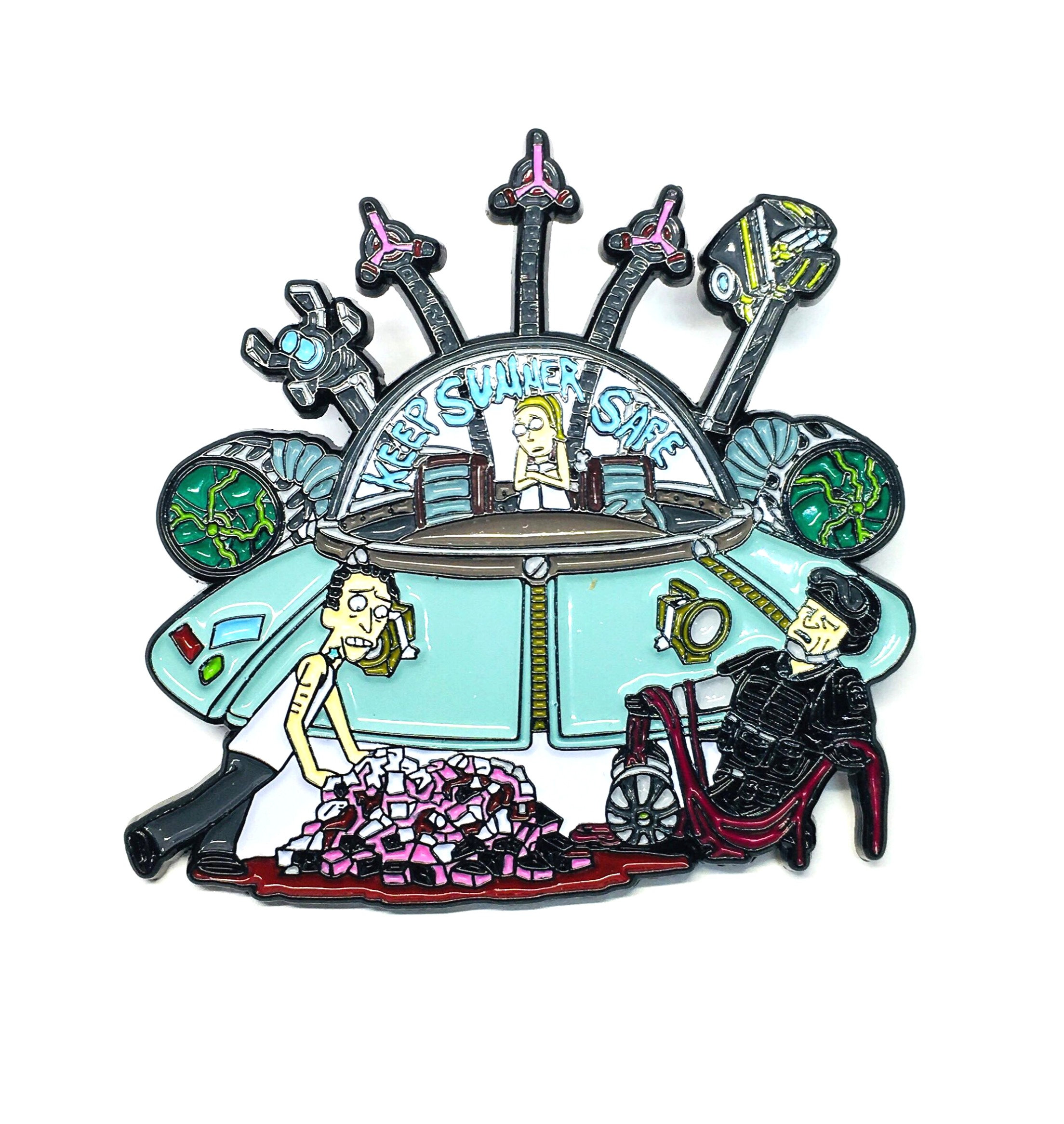 Rick & Morty Keep Summer Safe Hat Pin | Pindustrial Pins