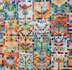 Caldwell-Flower Design Quilt5.5x5.3,90res