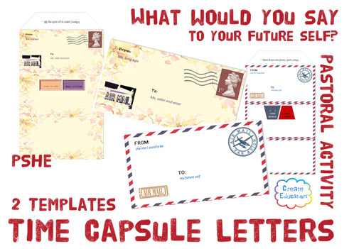 enthuse and motivate yourself or others with these time capsule templates