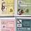Thumbnail: Setje van 4 wenskaarten neutraal