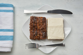 Brownie and Carrot Cake