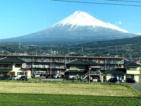 A.R.M.トレーニングのコーチセミナーへ行くとき富士山がよく見えました。