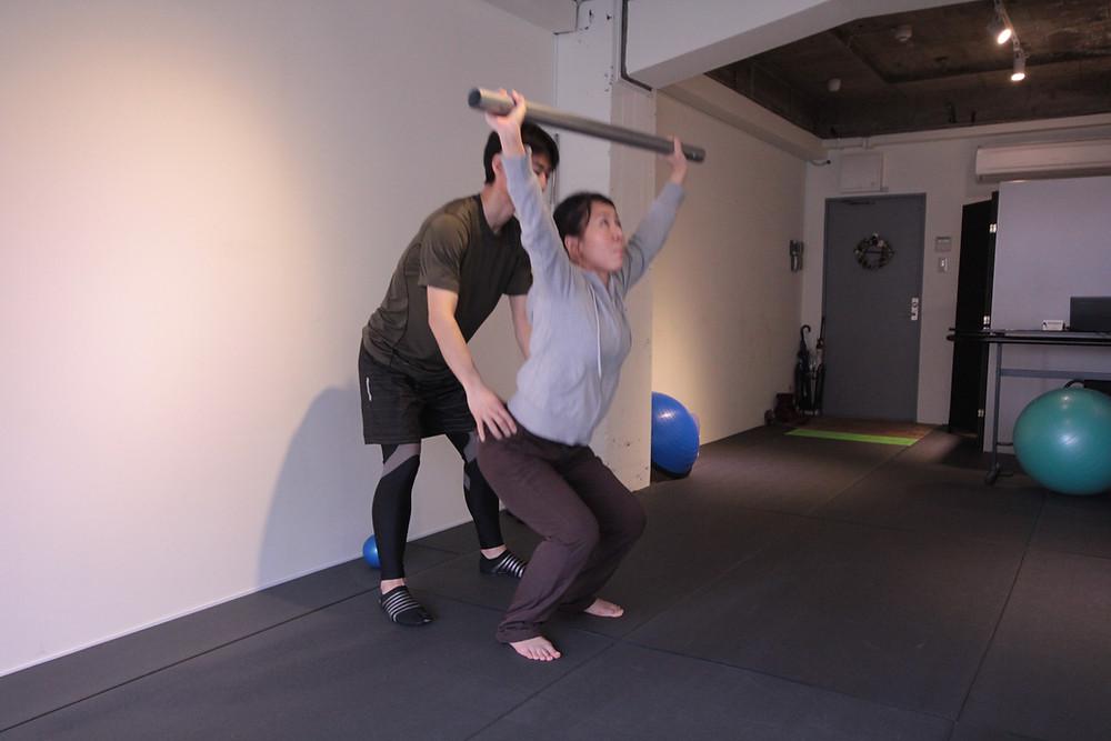 京都パーソナルトレーニング スクワットトレーニング