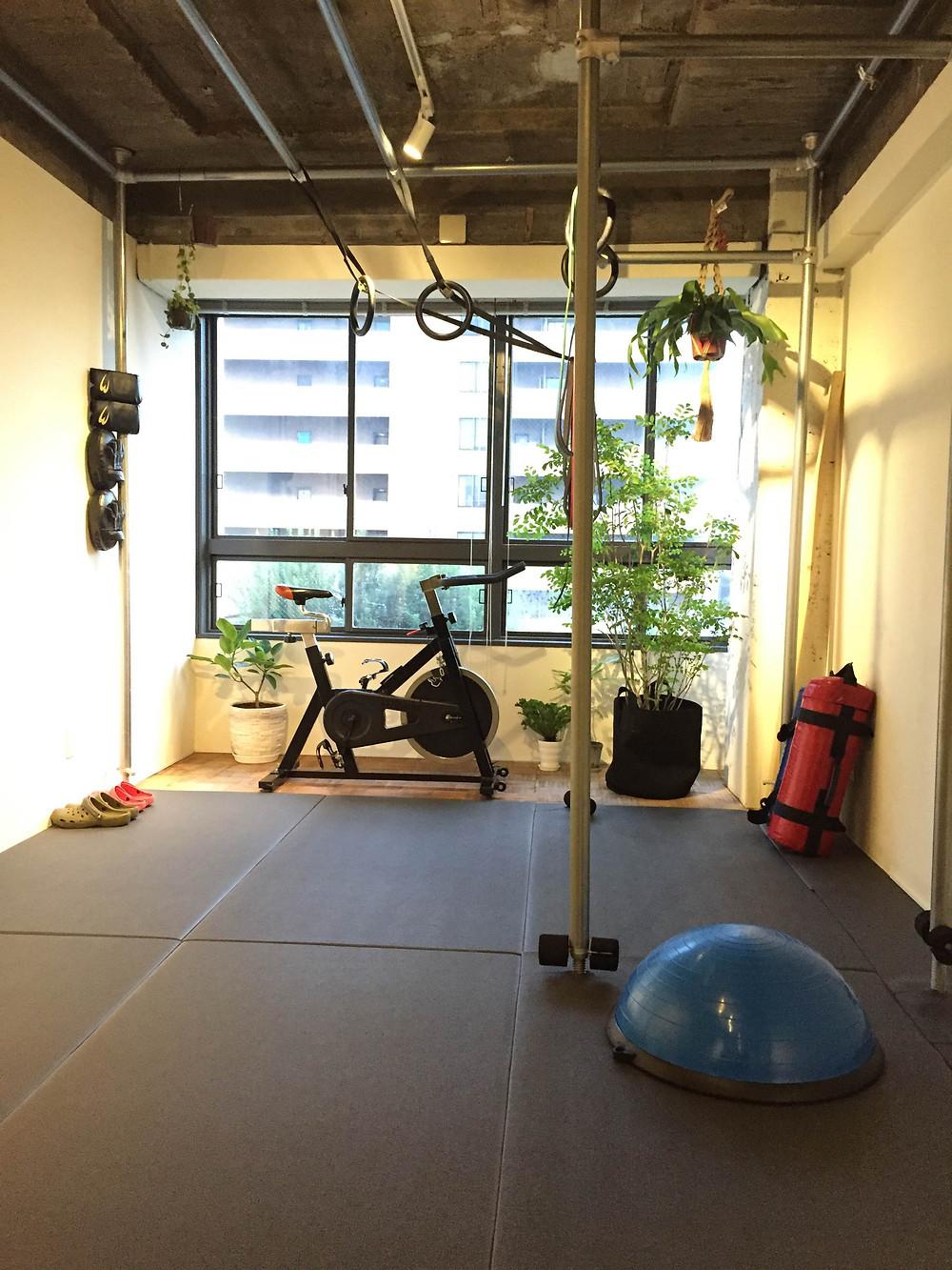 店内風景|京都パーソナルトレーニングジム「MOVEMENT」