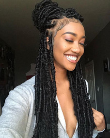 'Princess with the dreads' 👑 _iamoutragious___ _Download our app to try this look #luvhairapp