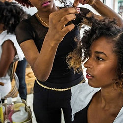Luvhair Partner doing hair