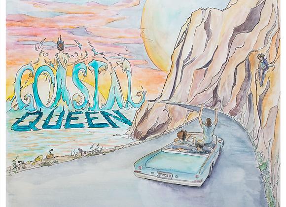 """12"""" x 12"""" Costal Queen Poster"""
