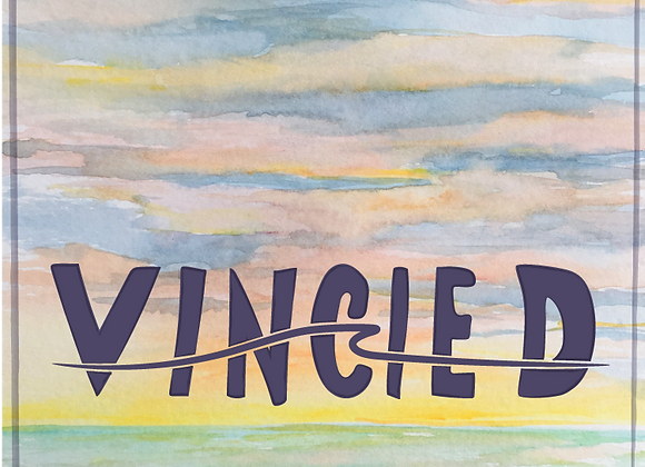 "2.5"" x 2.5"" Vincie D Sunset Sticker"