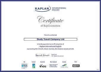 Study Travel Company KIE_Certificate_par